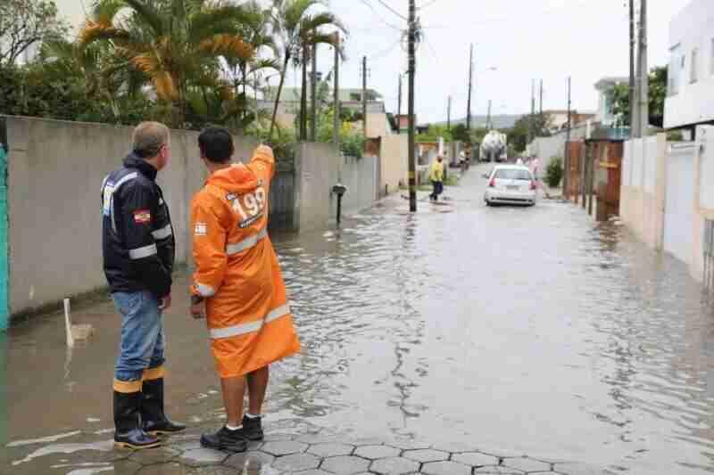 Prefeitura entra em estado de alerta em razão do volume de chuva previsto. Foto: Cristiano Andujar / divulgação