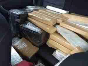 Droga estava estava a bordo de um veículo Renault Duster, com placas de Rio Grande. Foto: Divulgação