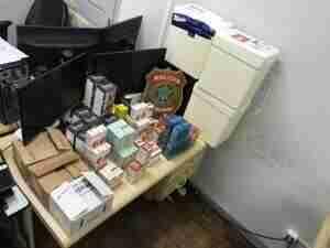 PF apreende medicamentos contrabandeados em Uruguaiana | Foto: Jorge Tesche / Divulgação / PF / CP