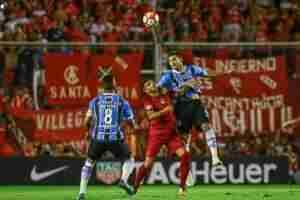 Tricolor não conseguiu aproveitar vantagem numérica e cedeu 1 a 1 para argentinos | Foto: Lucas Uebel / Grêmio / Divulgação CP