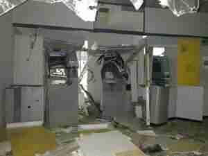 Criminosos explodem agência do BB em Taquari. Foto: Divulgação BM