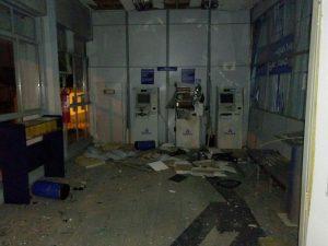 Criminosos explodiram  um caixa eletrônico / Foto: Brigada Militar / Divulgação