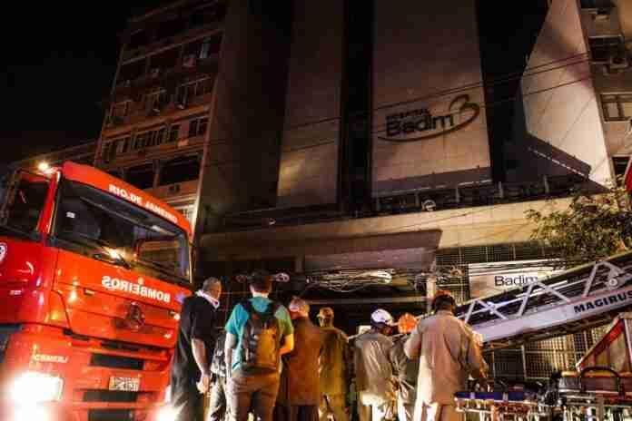 Morre 13ª vítima de incêndio em hospital no Rio. Foto: Fernando Frazão/Agência Brasil