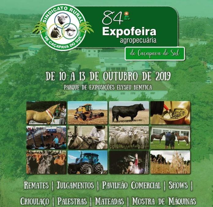 A mostra, que vai até o dia 13 de outubro no Parque de Exposições Elyseu Bemfica, terá exposição da raça Angus e remate.