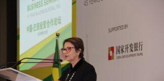 Ministra reforça aos chineses as boas perspectivas para investimento no agronegócio brasileiro