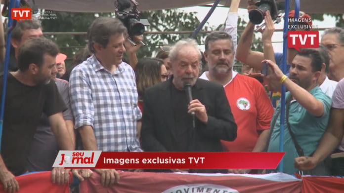 Ex-presidente Lula discursa no Sindicato dos Metalúrgicos em São Bernardo do Campo (SP) | Foto: Reprodução/Rede TVT/YouTube