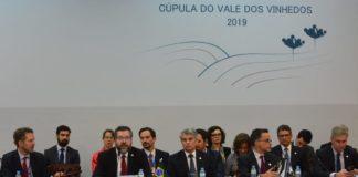Ernesto Araújo abriu reunião com ministros das Relações Exteriores do Mercosul | Foto: Guilherme Almeida/Especial/Correio do Povo