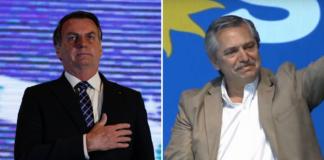 Bolsonaro, do Brasil, e Fernández, da Argentina, trocaram críticas nas últimas semanas | Foto: montagem sobre imagens de Carolina Antunes/PR e Divulgação/Partido Justicialista