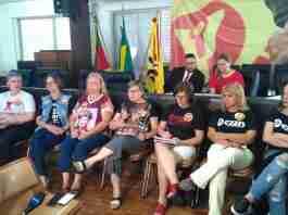 Presidente do CPERS e comando de greve explicaram posicionamento da categoria diante das mudanças anunciadas pelo governo | Foto: Gustavo Chagas/Rádio Guaíba