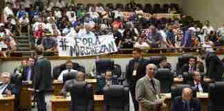 Vereadores discutiram projeto sob protesto de cobradores nas galerias | Foto: Foto: Tonico Alvares/CMPA