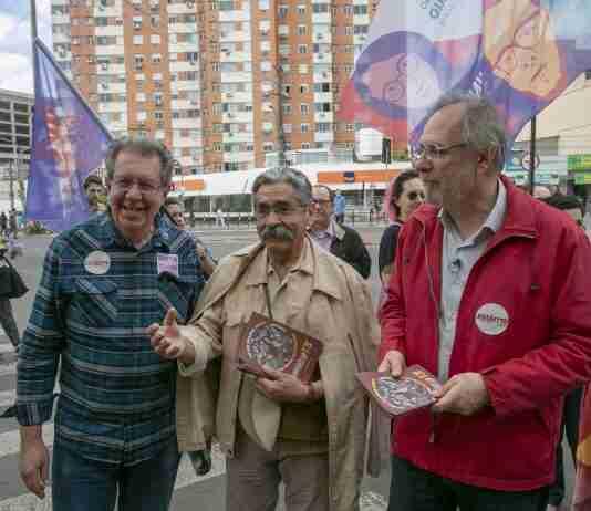 Olívio Dutra defendeu indicação de Miguel Rossetto (D) como vice de Manuela D'Ávila   Foto: Ubirajara Machado/PT