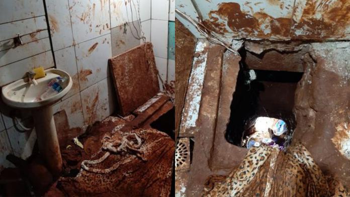 Túnel foi aberto em cela de prisão na fronteira do Paraguai com o Brasil | Foto: ABC Color
