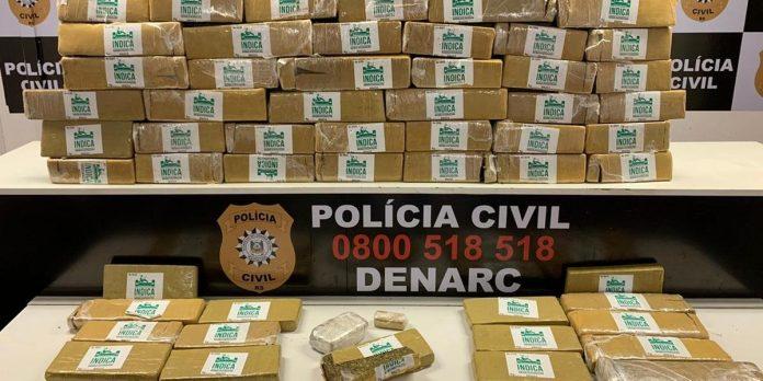 Entorpecentes seriam distribuídos em bocas de fumo da Região Metropolitana | Foto: Polícia Civil/CP