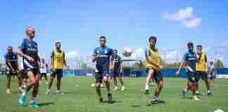 Atividade da manhã de domingo foi a primeira do grupo principal do Grêmio com bola na temporada 2020 | Foto: Lucas Uebel/Grêmio