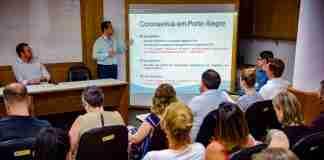 Reunião sobre plano para enfrentar o coronavírus foi promovida pela Secretaria da Saúde de Porto Alegre | Foto: Robson da Silveira/SMS/PMPA