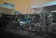 sete ônibus queimados Canoas