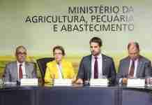 Governador Eduardo Leite entregou demandas à titular do Ministério da Agricultura, Teresa Cristina, em março | Foto: Divulgação/Palácio Piratini