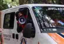 Guri de Uruguaiana fez alertas à população em unidade móvel da Defesa Civil de Porto Alegre | Foto: Reprodução/YouTube/Guri de Uruguaiana
