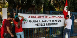 Trabalhadores sem terra protestaram no Incra em Porto Alegre | Foto: Leandro Molina/MST