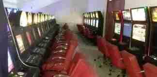 Bingo clandestino, com dezenas de máquinas caça-níqueis, servia para exploração do jogo de azar | Foto: Guarda Municipal/CP