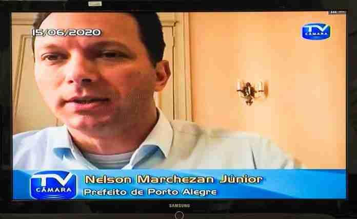 Em junho, Marchezan participou de sessão virtual na Câmara   Foto: Reprodução/CMPA