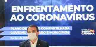 Governador catarinense Carlos Moisés aguarda resultado de contraprova em isolamento | Foto: Julio Cavalheiro/Secom