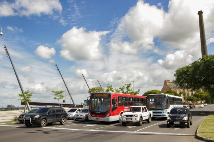 Tarifa de congestionamento custaria R$ 4,70 a quem ingressasse de carro no Centro | Foto: Cristine Rochol/Prefeitura de Porto Alegre