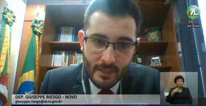 Giuseppe Riesgo (Novo) foi o relator da reforma tributária na Assembleia | Foto: Reprodução/TV Assembleia